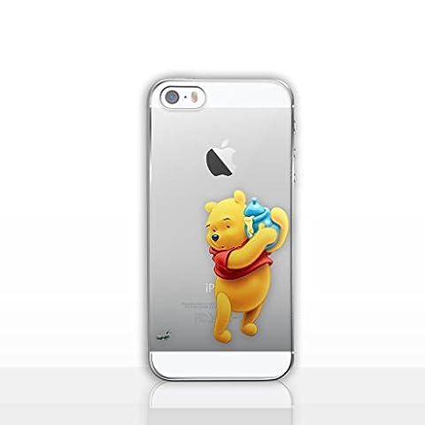 iPhone 5/5s Winnie L'ourson Étui en Silicone / Coque de Gel pour Apple iPhone 5s 5 SE / Protecteur D'écran et Chiffon / iCHOOSE / Pot de