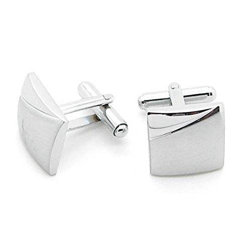 tumundo 1 Paar Elegante Manschettenknöpfe Silbern Manschettenknopf für Oberhemd Krawatte Cufflinks Hochzeit Manschette, Modell:Modell 14