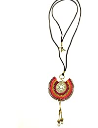 Tribal Zone Hand Crafted Dhokra Brass Necklace For Women