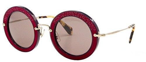 Miu Miu Damen 0MU08RS U6A6X1 49 Sonnenbrille, Violett (Violet/Purple Brown)