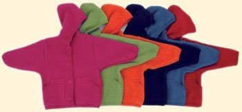 Woll-Walk-Jacke mit Kapuze von Disana Gr. 62/68 Farbe marine