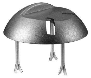 GAH-Alberts 210953 Auflaufstütze, zum Einbetonieren, mit Langlöchern, Aluminiumguss, Ø205 x 65 mm