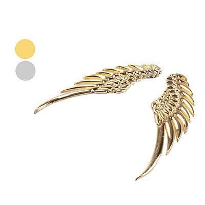 Nuevo Metal 3D ángel del ala decoración insignia emblema cromado de coches Auto Decal Sticker (plata, oro) , Gold