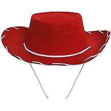 94afe2e62945a ILOVEFANCYDRESS Sombrero DE Vaquero Rojo para NIÑOS Accesorio para COSTUMA  Disponible EN Diversos Paquetes