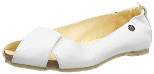 Jonny's Damen Britta Peeptoe Ballerinas, Weiß (Blanco), 42 EU