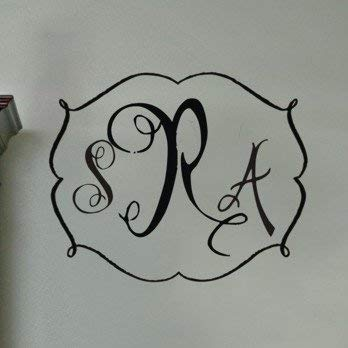 Personalized Darling Monogram Vinyl Wall Decal Home Decor -