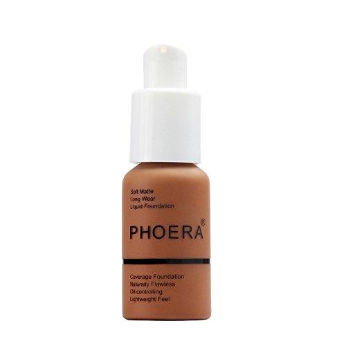 Wtouhe Makeups,New 30Ml Phoera Matte Oil Control Concealer Liquid Foundation Fondation Liquide Fondation Liquide Dinglong Fond De Teint