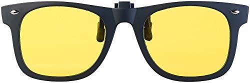 PEARL Nacht-Brille: Nachtsicht-Brillenclip in klassischem Retro-Look, polarisiert, UV400 (Überzieh-Nachtsicht-Brillen)