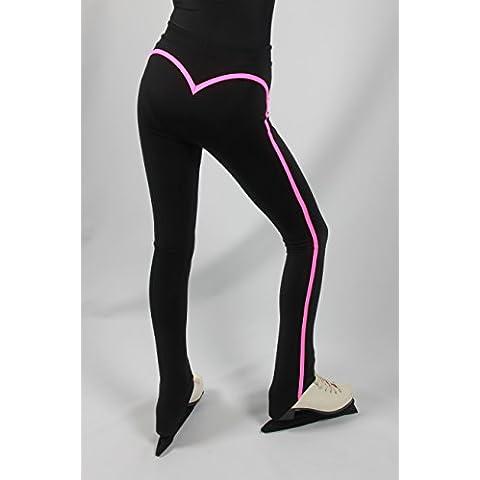 Pattinaggio pantaloni EMZA (Nero+Neon Pink, Taglia: 152-158/ Età: 11-13