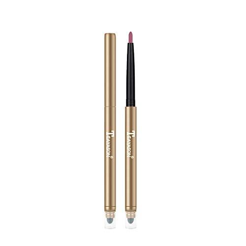 NEEKY Mode Double tête Automatique Imperméable Velours Longue Durée Mat Crayon Crayons à lèvres Durable Brillant à Lèvres Set de Cosmétiques(J)