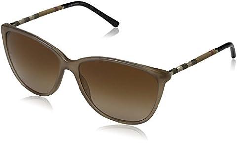 Burberry Unisex Sonnenbrille BE4117, Braun (Gestell: Sand, Gläser: Braun-Verlauf 301213), Large (Herstellergröße: 58)