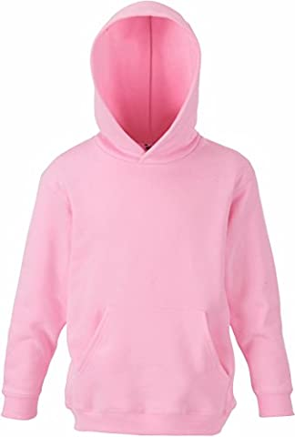 Fruit of the Loom Kids Kapuzen Sweatshirt 62-043-0 128 (7-8),Light Pink