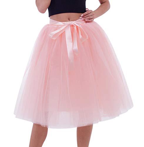 8279c98d68cf Jupes Tulle Jupe Tutu Jupe Femme Tulle Midi 7 Couches Costume Party Tutu  pour Mariages Costumes