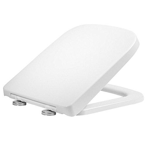 Sedile Wc Chiusura Rallentata.Rak Sedile Wc Series 600 Chiusura Rallentata Poco Sporgente Foro Quadrato Colore Bianco