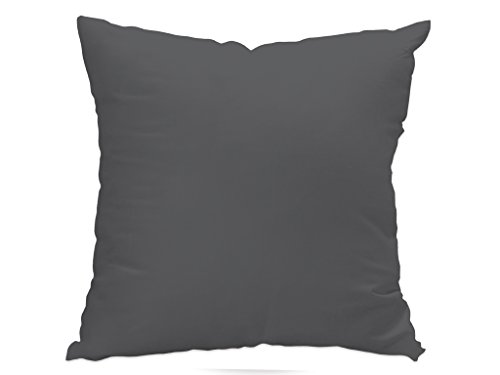 Soleil d'ocre 526233 ALIX Housse de coussin Polyester Anthracite 60 x 60 cm