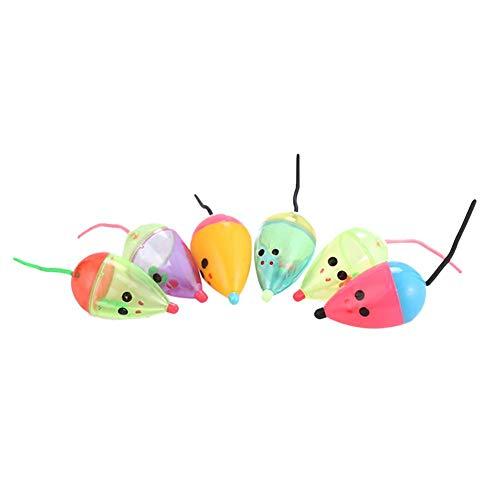 Seawang Topini per Gatti Interattivo Colore Giochi per Gatti con Campana Durevole E Robusto Giocattoli,6Pcs