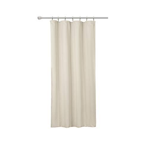 WOLTU #489, Vorhang Gardinen Blickdicht mit kräuselband für schiene, Leichter & weicher Verdunklungsvorhang für Wohnzimmer Schlafzimmer Tür, 135x175 cm, Crème, (1 Stück)