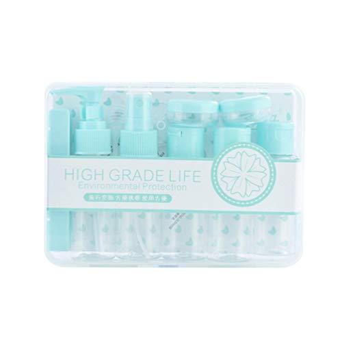 Recipientes para Artículos de Tocador de Viaje, Juego de Botella de Dispensación Portátil Compacta con Tapas Selladas Accesorios de Maquillaje Líquido Contenedores para Accesorios de Viaje