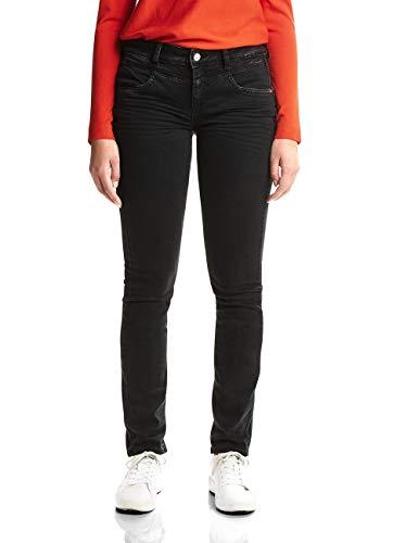 Basic Wash Jeans (Street One Damen 371878 Jane Slim Jeans, Black Basic wash, W32/L30)
