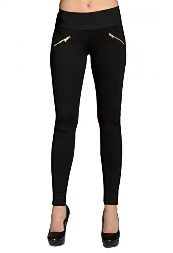 CASPAR HLE008 Damen Stretch Leggings , Farbe:schwarz;Größe:36 S UK8 US6