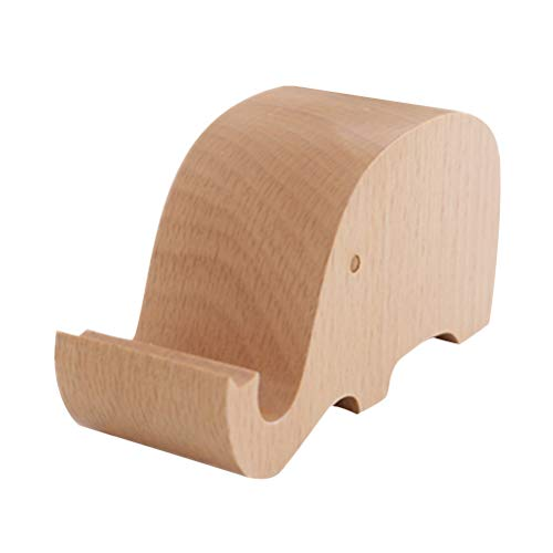 us Holz mit Elefanten-Form, dekorativer Tisch, Handy-Ständer, tragbare Smartphone-Halterung ()