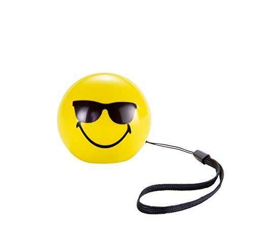 Mini enceinte smiley jaune souriant