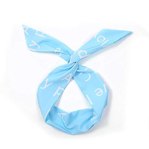 Kllomm 2 Stück Haarband Damen Haarfarbe passend zu Tiara Stirnband Haarnadel Damen und Mädchen Kopfbedeckung Haarschmuck-blau