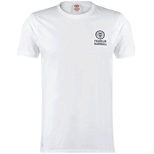 Franklin & Marshall -  T-shirt - Basic - Maniche corte  - Uomo White Medium