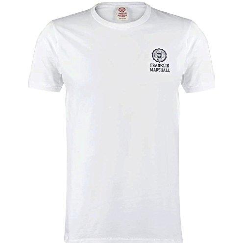 Franklin-Marshall-Soft-Cotton-Chest-Logo-T-Shirt-White