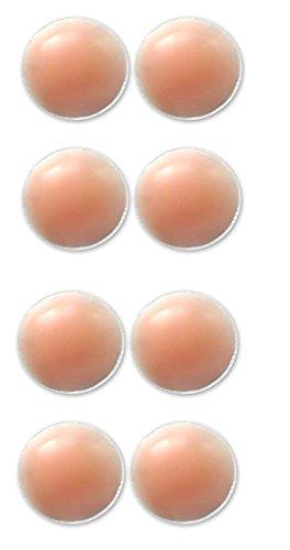 AGIA Tex 8X Silikon-Gel Brustwarzenabdeckung Selbstklebend & Wiederverwendbar, Unter BH, Bikini & Badeanzug, Nippel-Cover-Pads, Einheitsgröße, Rund, 60mm Durchmesser