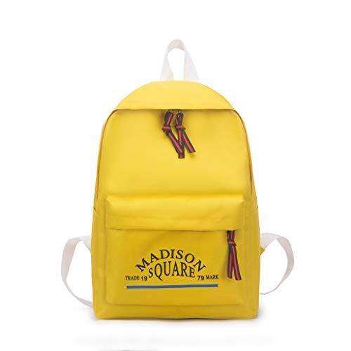 Rucksack in japanischem und koreanischem Stil, Schultasche Süß Einfarbig Lässige Outdoor Daypack für Damen und Mädchen Teenager LEEDY - Heritage Produkte Rose