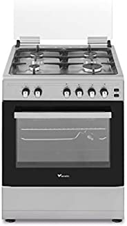 Veneto 60 X 60 cm, 4 Gas Burner Gas Cooker with Stainless Steel Hob, Silver - C3X66G4VCS.VN, 1 Year Warranty
