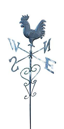 Buri Metall-Gartenstecker Wetterfahne Wetterhahn Windspiel Beetstecker Gartendeko