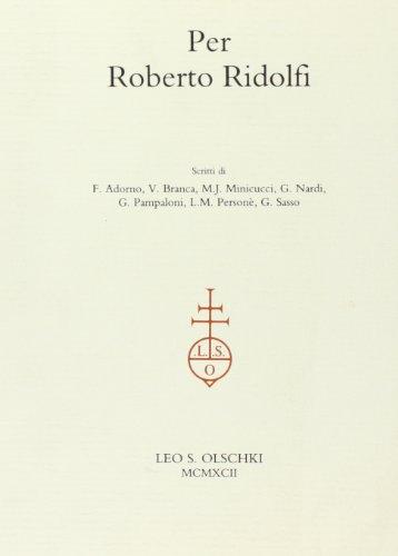 Per Roberto Ridolfi por AA.VV