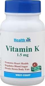 Healthvit Vitamin K 1.5 mg - 60 Capsules