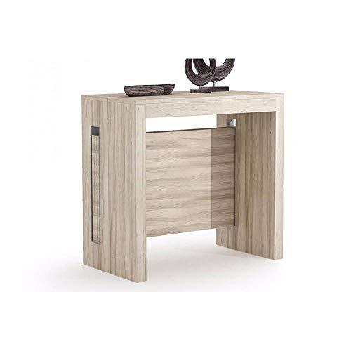Terraneo Konsole ausziehbar Grandezza Eiche - Erweiterbar Konsole Tisch