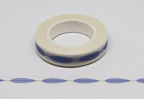 wolga-kreativ Washi Tape Blatt blau Masking Tape Dekoband Klebeband