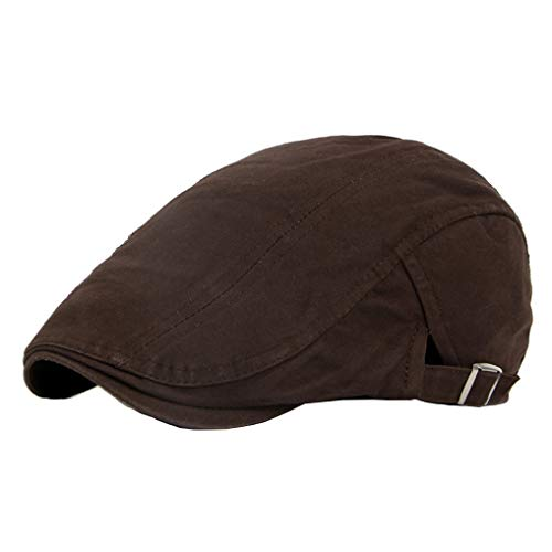 Solid Newboy Cap Baumwolle Baskenmütze Classic Flat Ivy Gatsby France Driving Hat - Mehrfarbig - Einstellbar