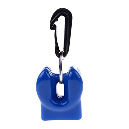 T TOOYFUL Scuba Mundstü Halter Clip Für Die Zweite Stufe Atemregler Taucher Tauchen Schnorchelausrüstung Zubehör Mehrere Farben - Blau -