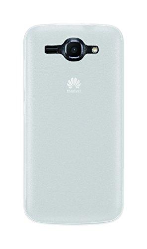 Phonix Gel Protection Plus Etui mit Displayschutzfolie für Huawei Ascend Y540 durchsichtiges weiß