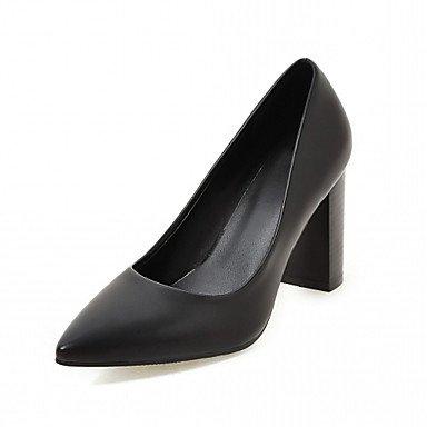 Talloni delle donne Primavera Autunno Dress Comfort in similpelle ufficio & carriera casuale tacco grosso Nero Marrone Beige Black