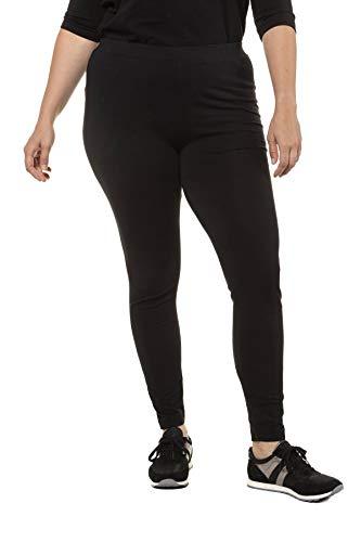 Ulla Popken Große Größen Damen Skinny Leggings 48554810, Gr. 54 (Herstellergröße: 54+), Schwarz (schwarz 10)