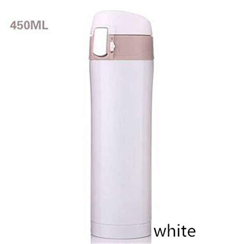 Mr.Fragile Edelstahlkessel, Vakuum Gedämmte Doppelwand 6 Stunden Kalt Und 12 Heiß-100% Keine BPA Thermoskanne 450Ml,White410ml - 450 Thermoskanne