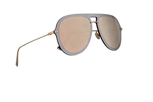 Dior Christian DiorUltime1 Sonnenbrille Silber Pink Mit Golden Gläsern 57mm AVBSQ Diorultime 1 Ultime1