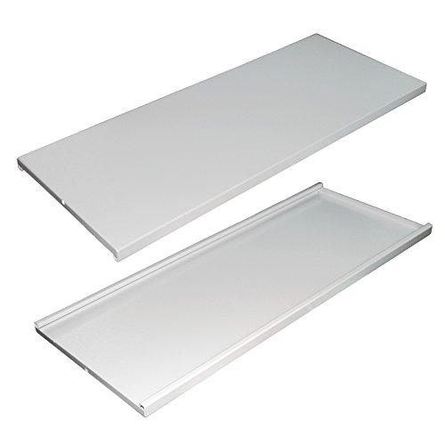 Preisvergleich Produktbild DEMA 2x Ersatzboden grau für Schränke 78 x 38 cm