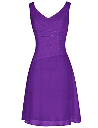 Find Dress Robe de Cocktail Longue pour Mariage/Soirée pour Femme Ronde Rétro Vintage Robe de Gala Gown Anniversaire Wedding Dress Taille Personnaliser Mousseline Pourpre