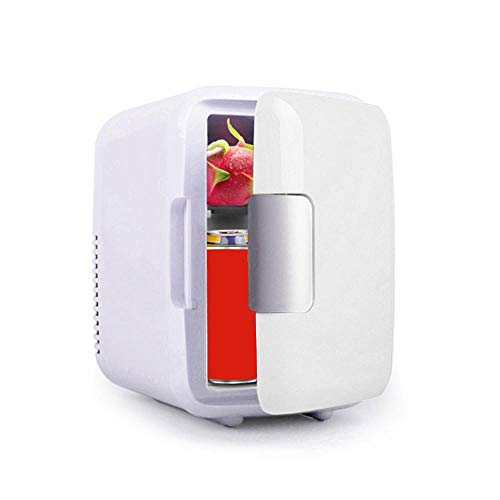 MOGOI Mini réfrigérateurs,Congélateur intégré, Mini frigo Portable avec Deux Couches Partition Détachable,Réfrigérateur à Boissons (4L)