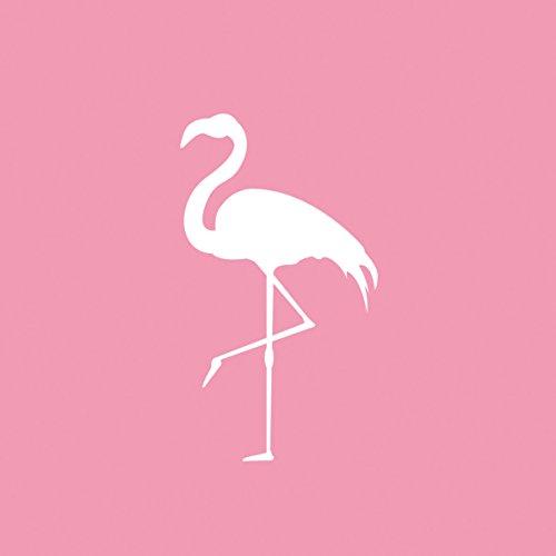 Servietten (2er Set / 40Stück) 3-lagig 33x33cm Sommer Muster (Pink Flamingo)