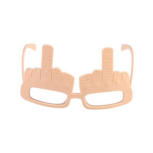 Toyvian Partybrille Lustige Sonnenbrille Mittelfinger Form Karneval und Fasching Kostüm Cosplay Party ()