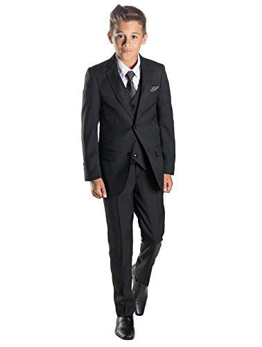 Paisley of London, Jungen Schwarz Anzug, Jungen Page Boy Anzüge, Jungen Hochzeit passt (13 Jahre)